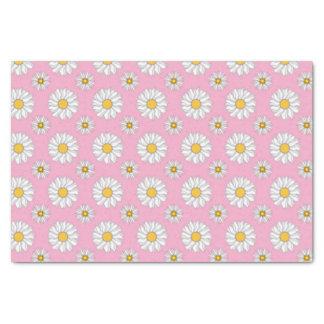 ピンクの背景のかわいらしいデイジー 薄葉紙