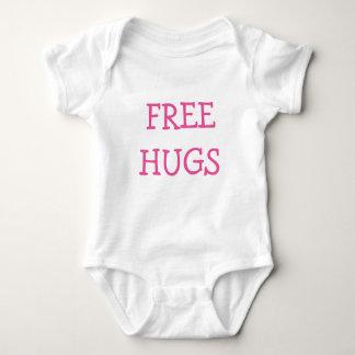 ピンクの自由な抱擁 ベビーボディスーツ