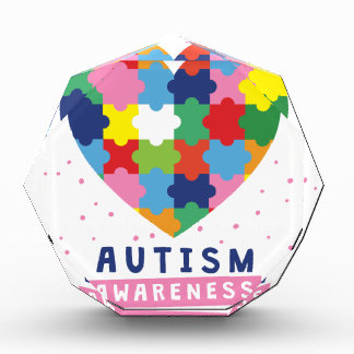 ピンクの自閉症の認識度 表彰盾