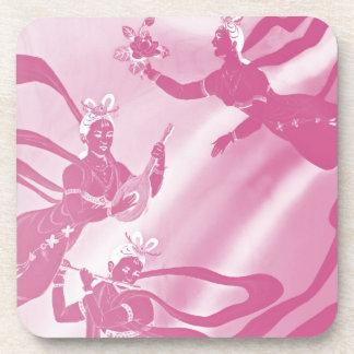 ピンクの色相の天使そして音楽 コースター