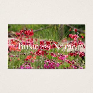 ピンクの花いっぱいの名刺 名刺