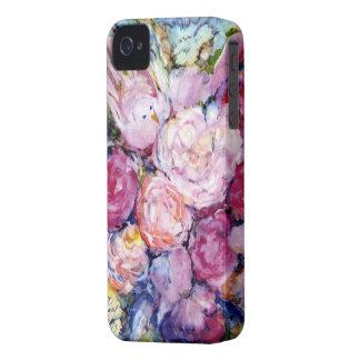 ピンクの花およびピンクの鳥の束 Case-Mate iPhone 4 ケース