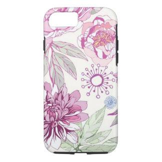 ピンクの花が付いているパターン iPhone 8/7ケース