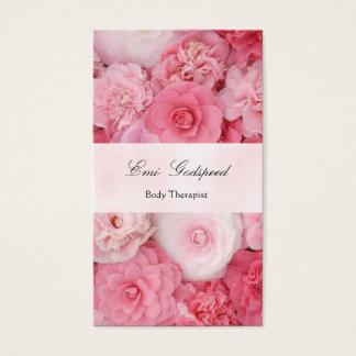 ピンクの花のかわいい名刺 名刺