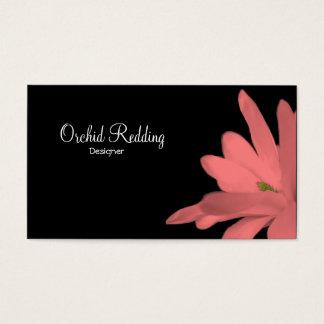 ピンクの花のエキゾチックな花屋の結婚式 名刺