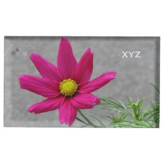 ピンクの花のカスタムなテーブルの帯出登録者 テーブルカードホルダー