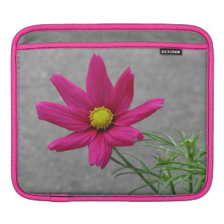ピンクの花のカスタムなiPadの袖 iPadスリーブ