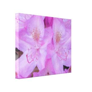 ピンクの花のキャンバスの芸術 キャンバスプリント