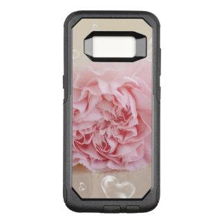 ピンクの花のハートの泡 オッターボックスコミューターSamsung GALAXY S8 ケース