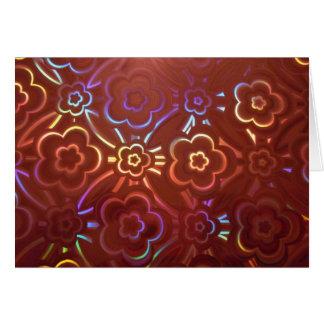 ピンクの花のホログラム カード