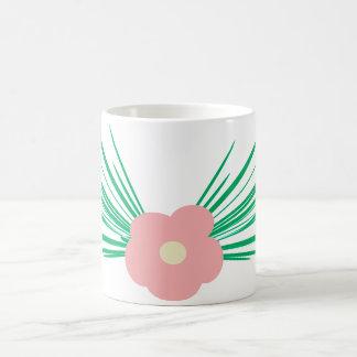 ピンクの花のマグ コーヒーマグカップ