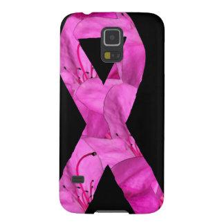 ピンクの花のリボン GALAXY S5 ケース