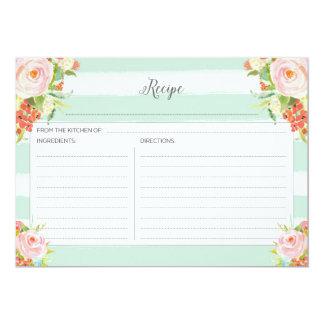 ピンクの花のレシピカード カード