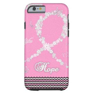 ピンクの花の乳癌の認識度のリボンiPhone6 ケース