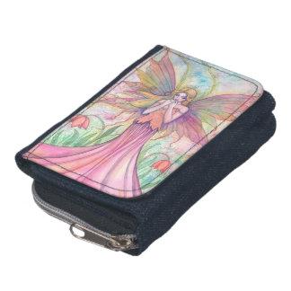 ピンクの花の妖精およびファンタジーの芸術 ウォレット