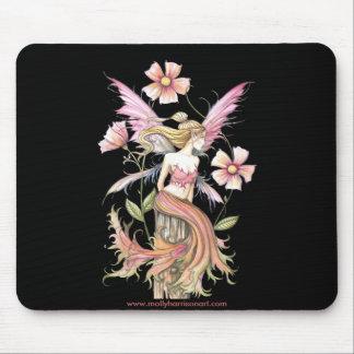 ピンクの花の妖精の芸術 マウスパッド