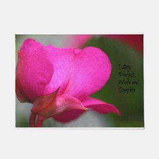 ピンクの花の完全な全および完全なドア・マット ドアマット