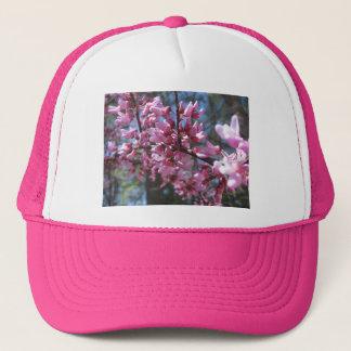 ピンクの花の枝 キャップ