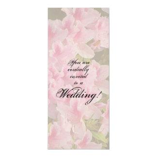 ピンクの花の結婚式招待状 カード