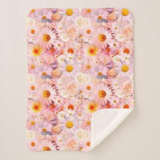 ピンクの花の花束の花の結婚式の花嫁の春 シェルパブランケット