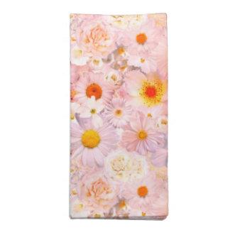 ピンクの花の花束の花の結婚式の花嫁の春 ナプキンクロス
