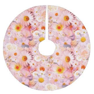 ピンクの花の花束の花の結婚式の花嫁の春 ブラッシュドポリエステルツリースカート
