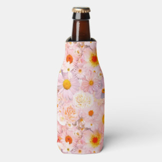 ピンクの花の花束の花の結婚式の花嫁の春 ボトルクーラー