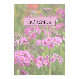 ピンクの花の蘭のパーティーの発表の招待状 カード
