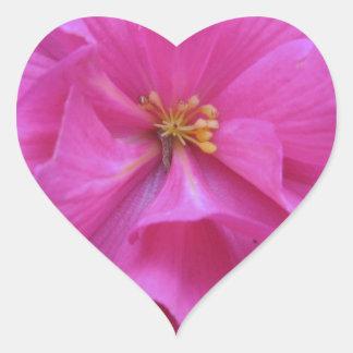 ピンクの花の閉めて下さい ハートシール