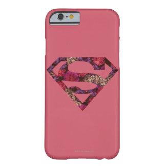ピンクの花のS盾 BARELY THERE iPhone 6 ケース