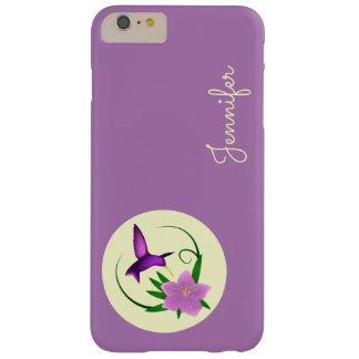 ピンクの花を持つハチドリ BARELY THERE iPhone 6 PLUS ケース
