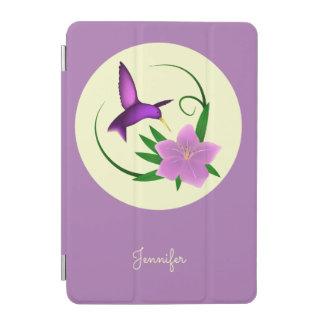 ピンクの花を持つハチドリ iPad MINIカバー