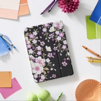 ピンクの花を滝のように落とすFalln iPad Air カバー