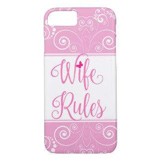 ピンクの花パターン妻は場合を支配します iPhone 7ケース