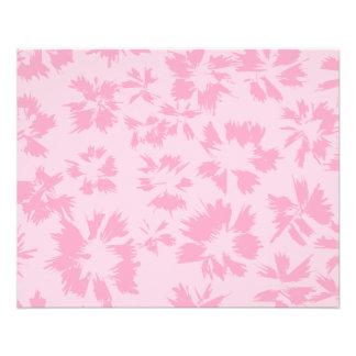 ピンクの花パターン チラシ