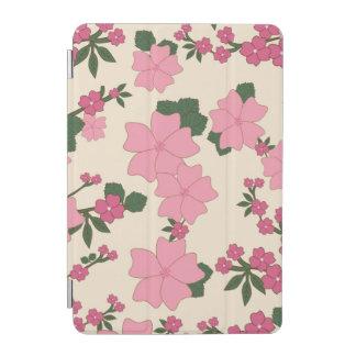 ピンクの花パターン iPad MINIカバー