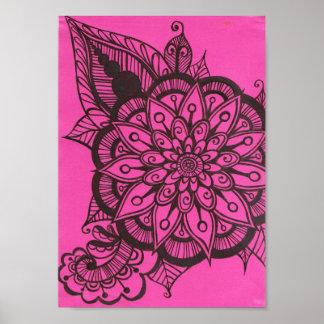ピンクの花ポスター ポスター