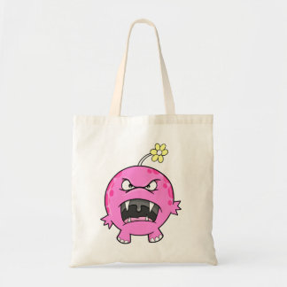 ピンクの花モンスターのバッグ トートバッグ