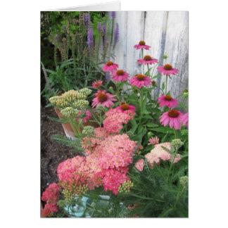 ピンクの花園 ノートカード