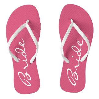 ピンクの花嫁のビーチサンダル ビーチサンダル