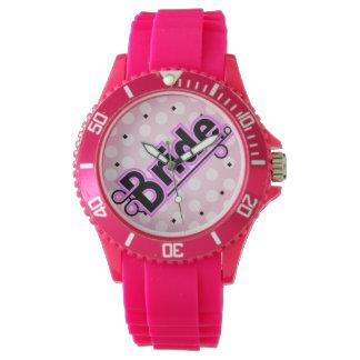 ピンクの花嫁の腕時計 腕時計