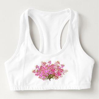 ピンクの花嫁の花束によってはスポーツのブラが開花します スポーツブラ