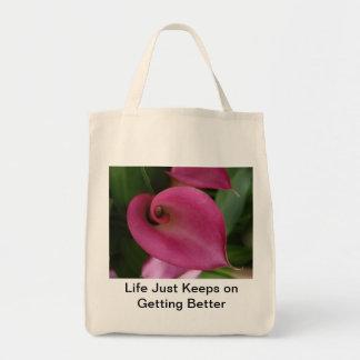 ピンクの花屋のバッグ トートバッグ