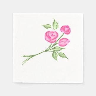 ピンクの花束のバラ スタンダードカクテルナプキン