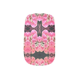 ピンクの花束 ネイルアート