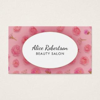 ピンクの花柄 名刺
