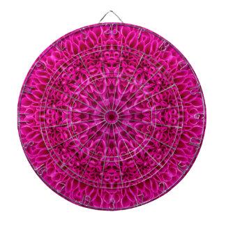 ピンクの花模様の金属のおりのダート盤 ダーツボード