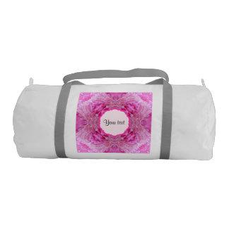 ピンクの花模様 ジムバッグ