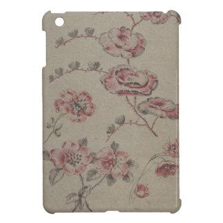 ピンクの花模様-フランス語 iPad MINIカバー