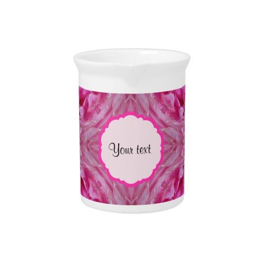 ピンクの花模様 飲み物ピッチャー